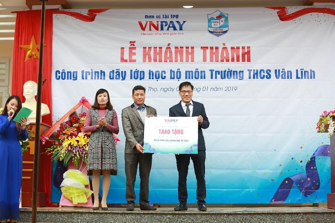 Hoạt động ý nghĩa đầu năm – VNPAY tài trợ xây dựng khu lớp học bộ môn trường THCS Vân Lĩnh (Phú Thọ)