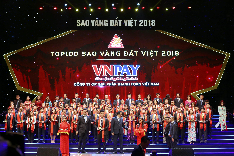 VNPAY được vinh danh TOP 100 Sao vàng Đất Việt 2018